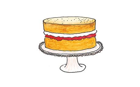 The great victoria sandwich. Desserts clipart sponge cake