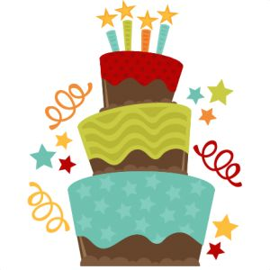 Clipart cake whimsical.  collection of birthday