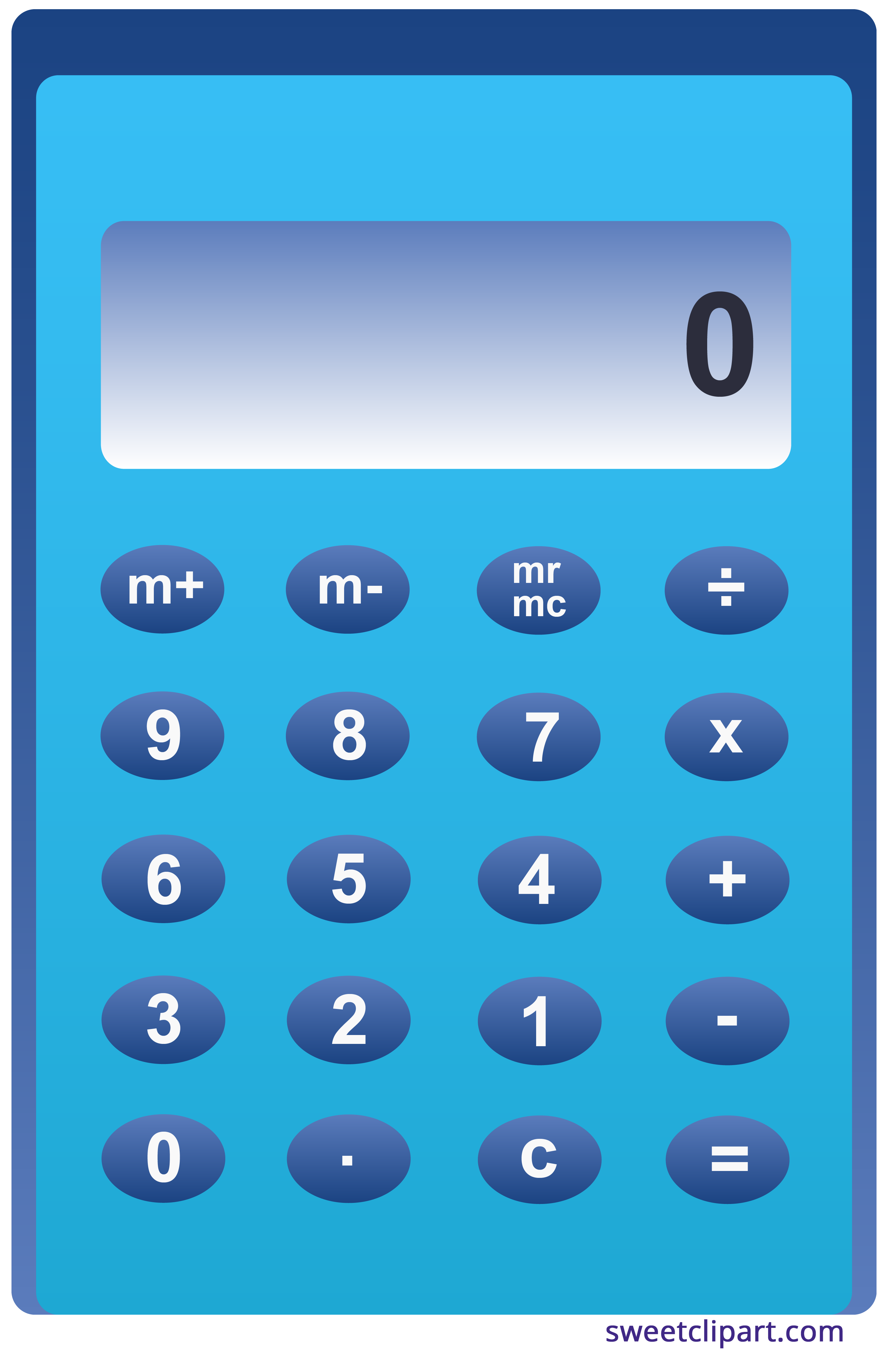 Simple sweet clip art. Calculator clipart
