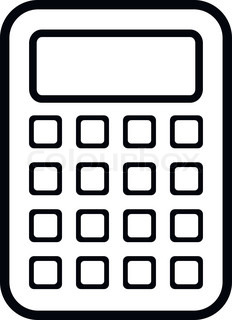 Black and white station. Calculator clipart