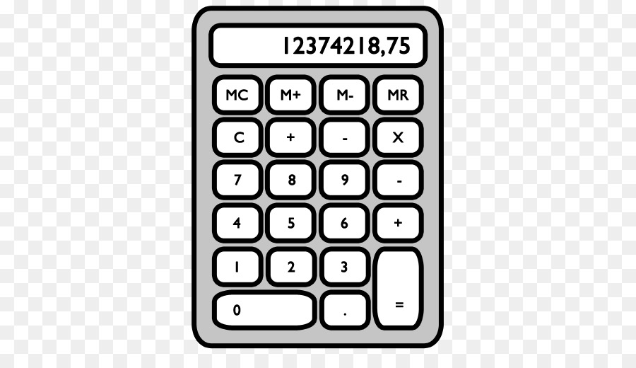 Calculator clipart. Technology background