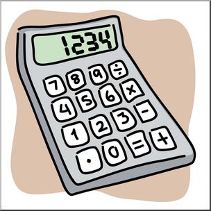 Clip art color i. Calculator clipart amount