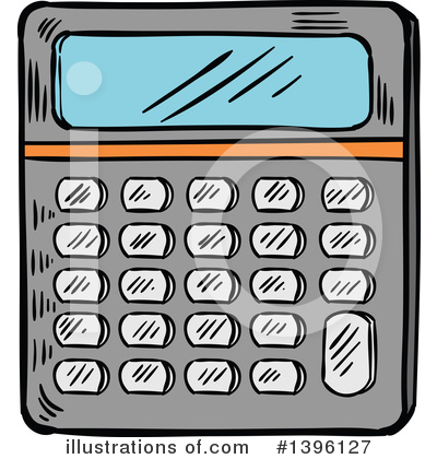 Illustration by vector tradition. Calculator clipart amount
