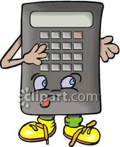 Animated royalty free picture. Calculator clipart animation
