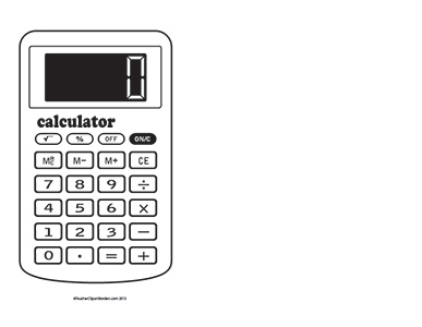 Station . Calculator clipart black and white