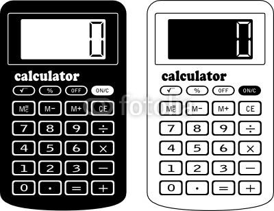 Calculator clipart black and white. Station
