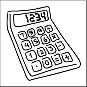 Calculator clipart black and white. Clip art b w
