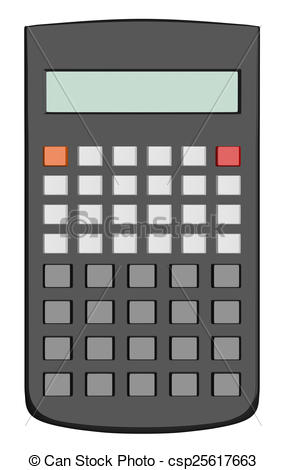Cilpart astonishing scientific illustrations. Calculator clipart blank