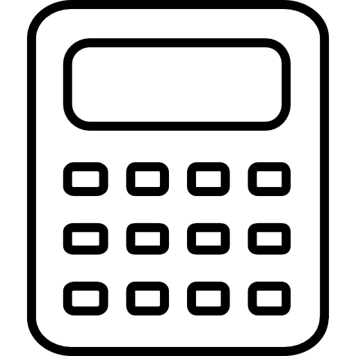 Icon page. Calculator clipart blank