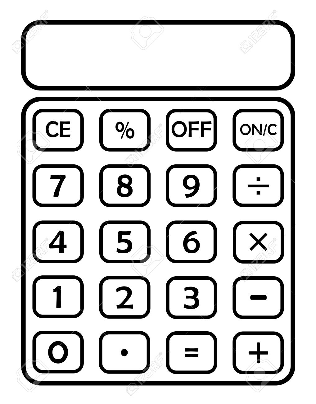 Calculator clipart blank. Station
