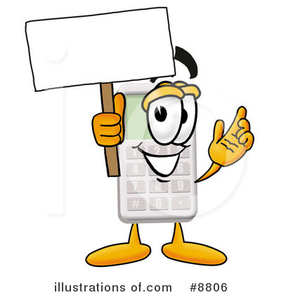 Calculator clipart blank. Illustration by toons biz