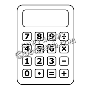 collection of black. Calculator clipart blank