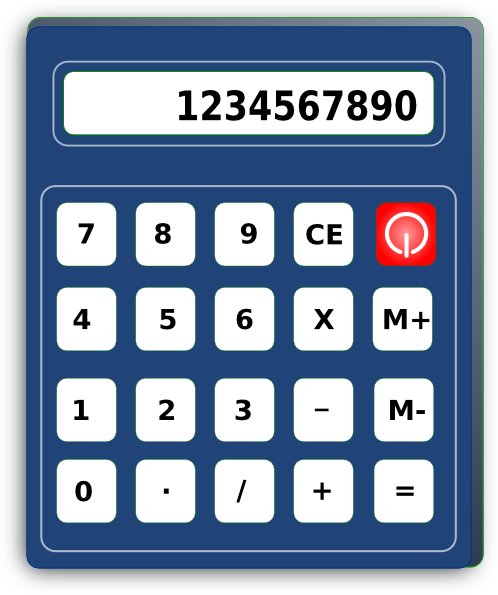 Calculator clipart blue. Clip art at clker