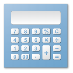 Icon png image iconbug. Calculator clipart blue