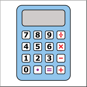 Clip art color blank. Calculator clipart blue