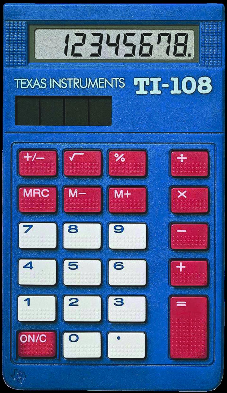 The beautiful ti track. Calculator clipart blue