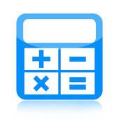 Calculator clipart blue. Square icon stock illustrations