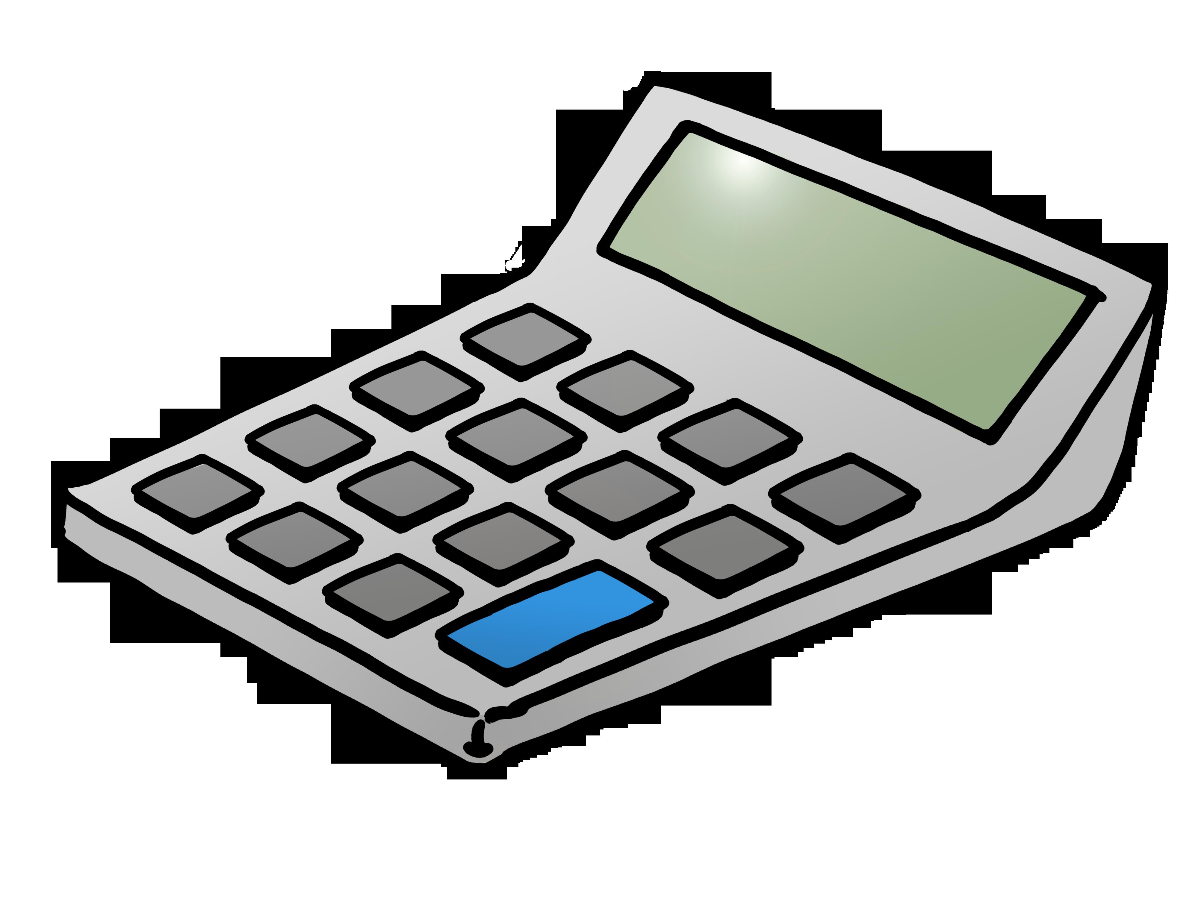 Free . White clipart calculator