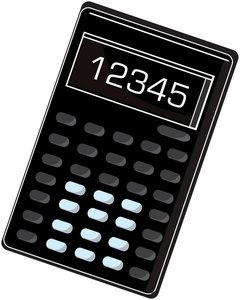 Calculator clipart caculator. Image office with numbers