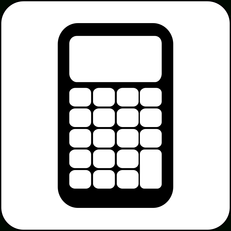Black and white letters. Calculator clipart caculator