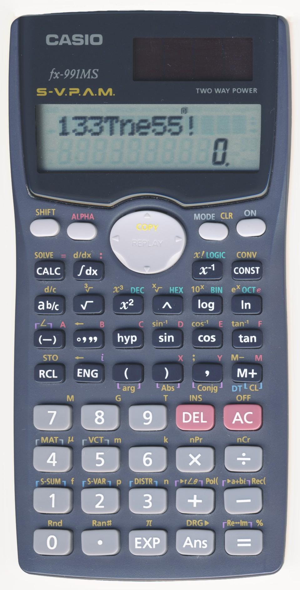 Casio fx ms tips. Calculator clipart calcu