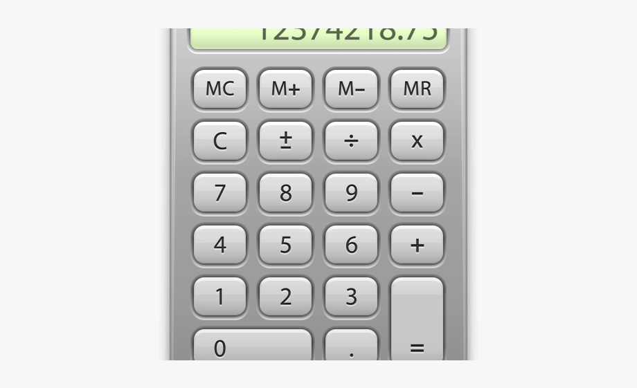Transparent background icon . Calculator clipart calculater