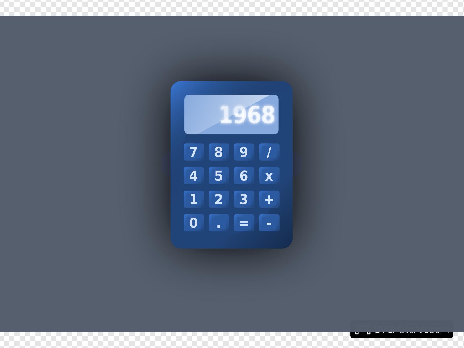 Calculator clipart calculater. Blue clip art icon
