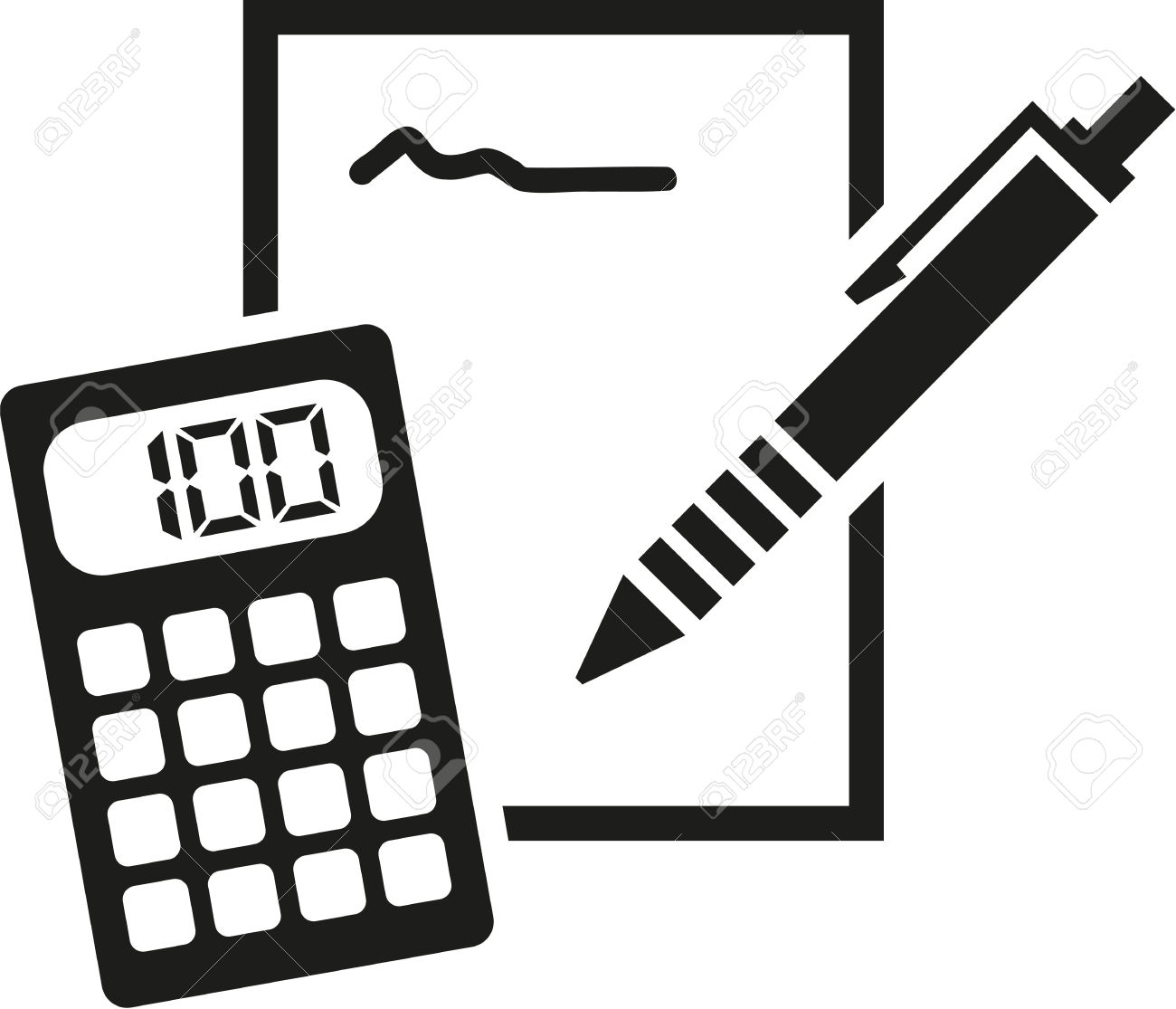 Calculator clipart calculater. Black and white free