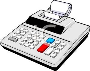 Calculator clipart calulator. A desk