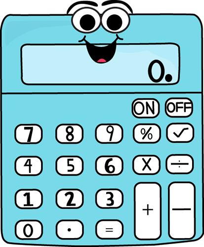 Animated . Calculator clipart cartoon