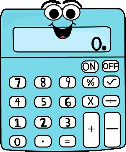 Animated Calculator Clipart