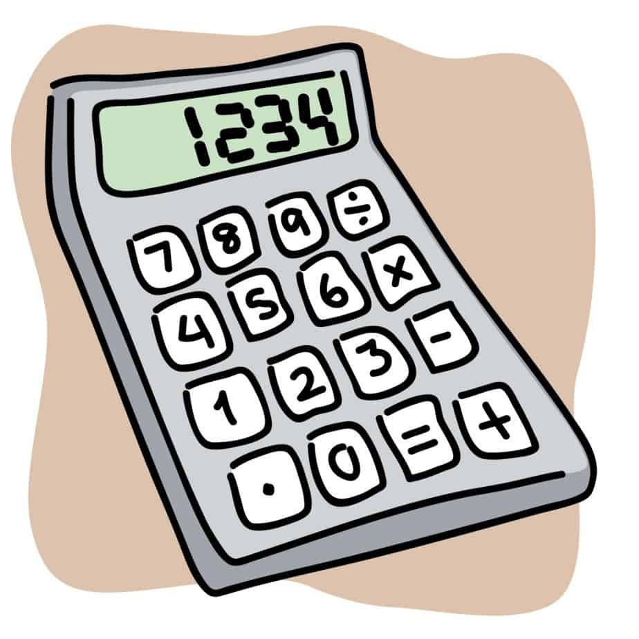 Calculate how much stained. Calculator clipart cartoon