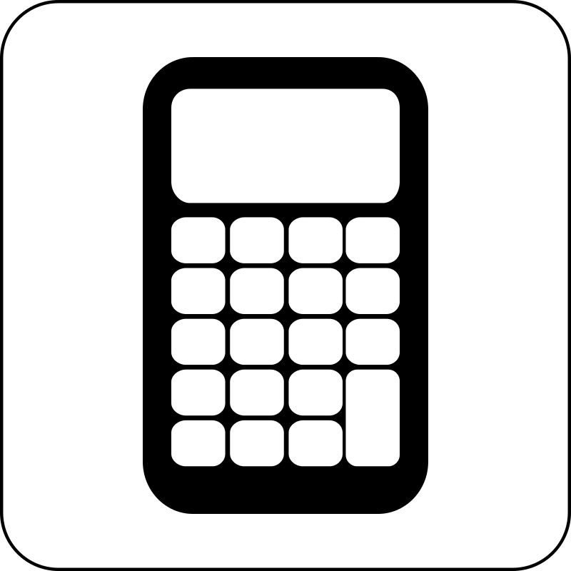 Calculator clipart cartoon. Icon
