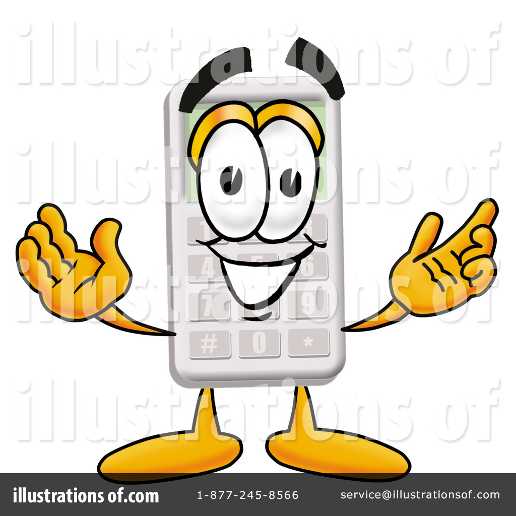 Calculator clipart cartoon. Illustration by toons biz