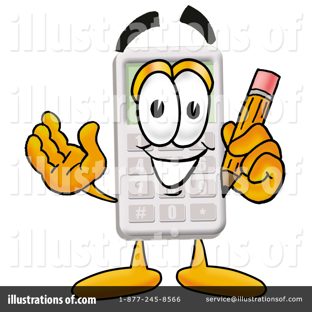 Illustration by toons biz. Calculator clipart cartoon