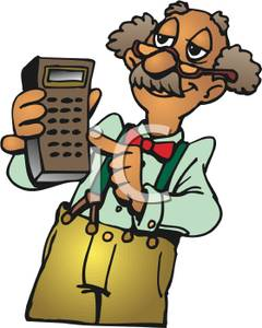 Calculator clipart child. Image a smiling elderly