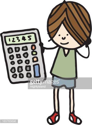 Calculator clipart child. Boy with premium clipartlogo
