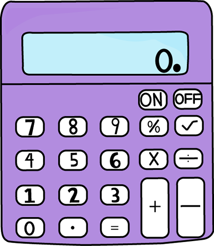 Calculator clipart clip art. Purple panda free images