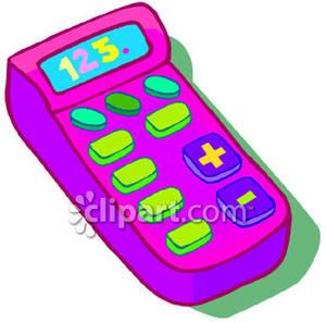 Calculator clipart colorful. A brightly colored children