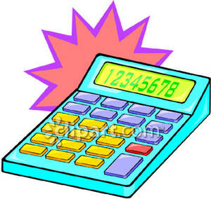 Numbers displayed on a. Calculator clipart colorful
