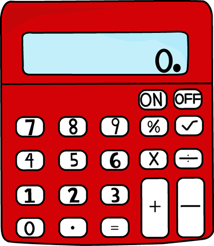 Calculator clipart cute. Red clip art vector