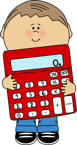 Calculator clipart cute. Kid holding ms evanne