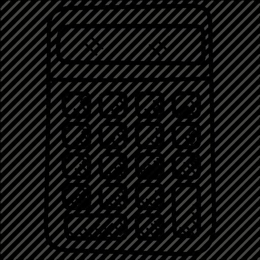 Calculator clipart doodle. Communication icon illustration