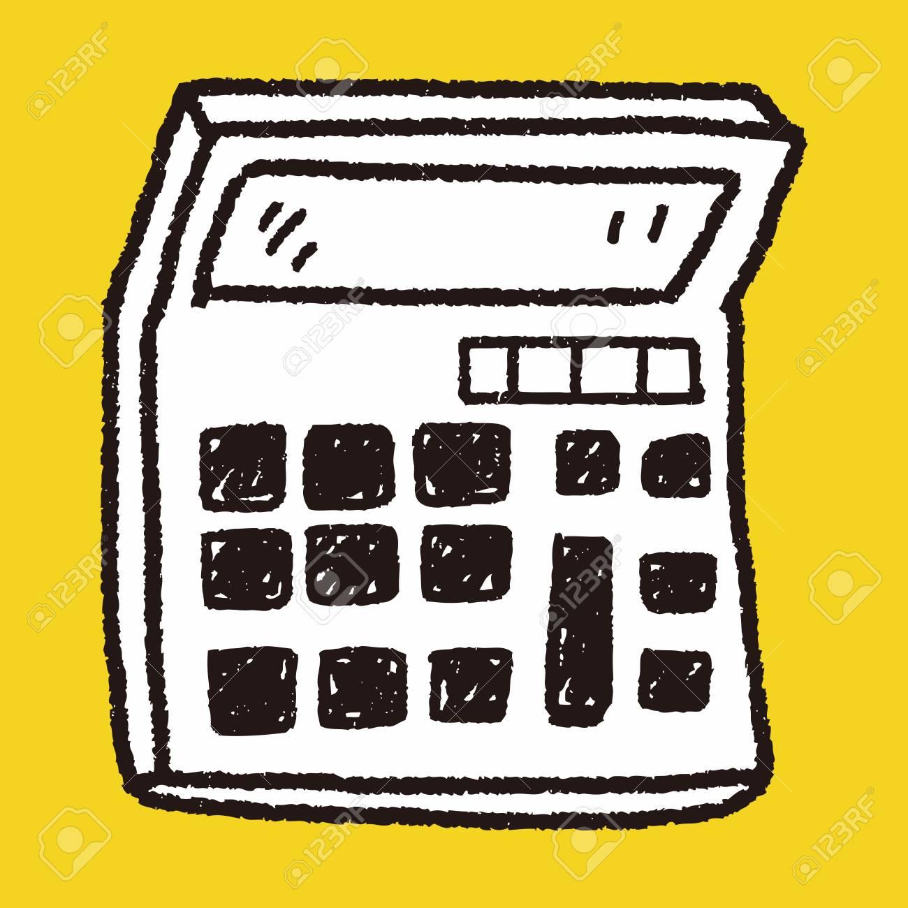 Calculator clipart doodle. Free download clip art