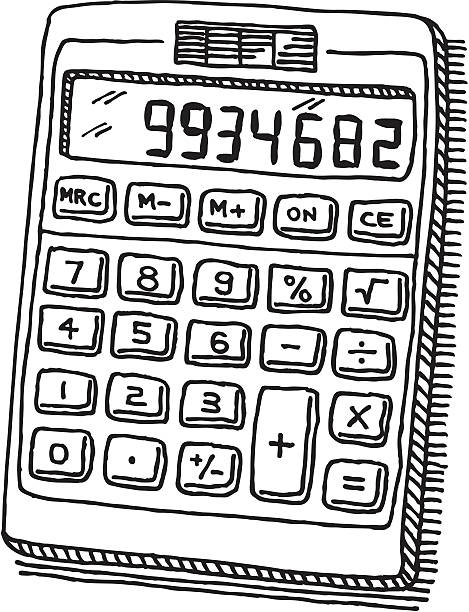 Calculator clipart doodle.  collection of black