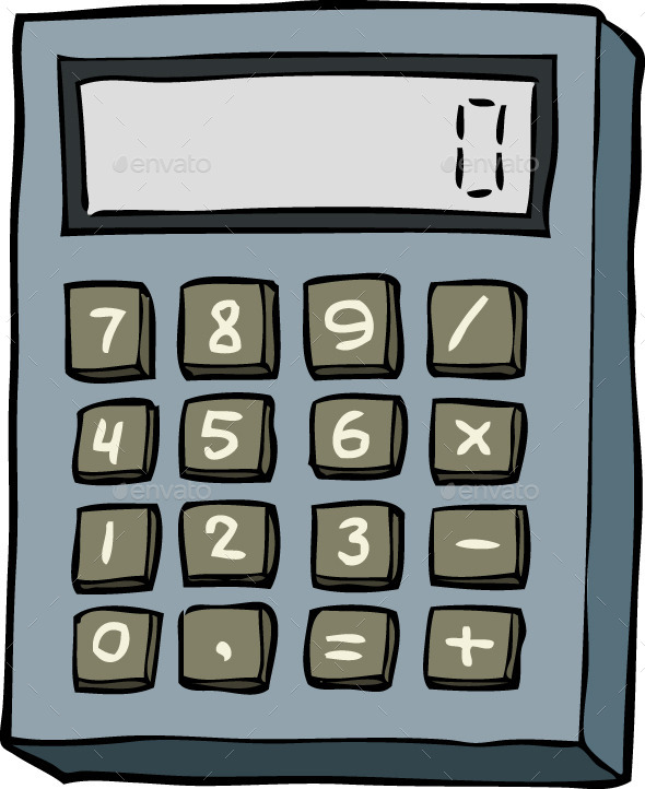 By ded mazay graphicriver. Calculator clipart doodle