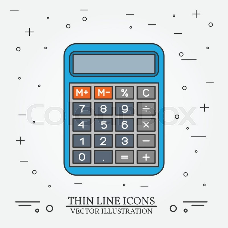 Calculator clipart drawing. Icon at getdrawings com