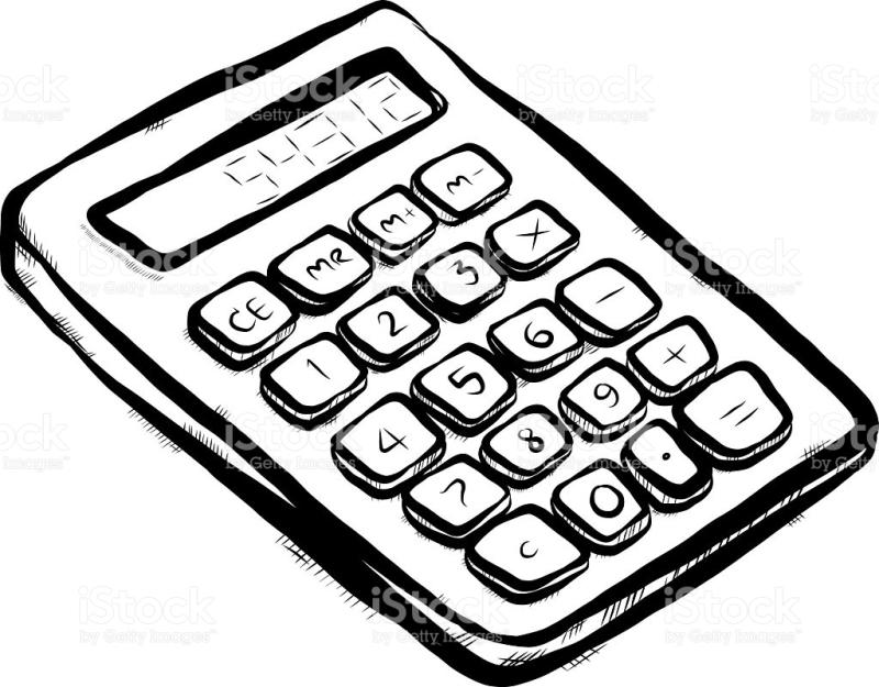 Calculator clipart drawing. At getdrawings com free