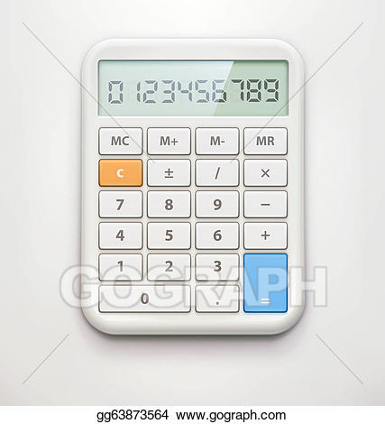 Electronic gg gograph illustration. Calculator clipart drawing