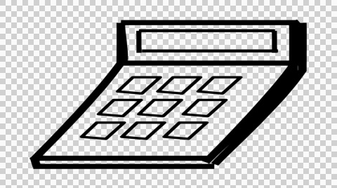 Calculator clipart drawing. Video office line illustration